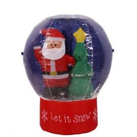 Μεγάλη φουσκωτή Χριστουγεννιάτικη χιονόμπαλα 65cm με εφέ χιονιού και φωτισμό