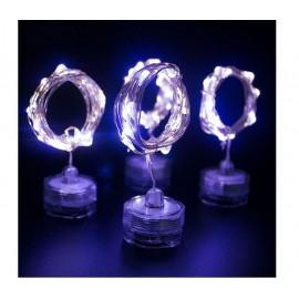 Γιρλάντα 20 Led Φωτάκια Μπαταρίας & Καλώδιο Χαλκού (Λευκό Ψυχρό)