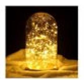 Γυάλινο Διακοσμητικό LED Φωτιστικό Μπαταρίας με Λευκό Φωτισμό