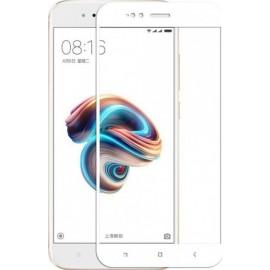Full Face Tempered glass / Αντιχαρακτικό Γυαλί Πλήρους Οθόνης 3D Για  Xiaomi Mi 5X/Mi A1 Άσπρο