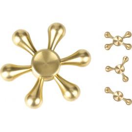 Fidget Spinner Drops Six Leaves 3 minutes - Gold - OEM 50674