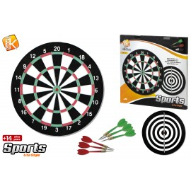 Active sport - Στόχος- Dartboard διπλής όψης με 6 βελάκια 12 ιντσών C02G0190343