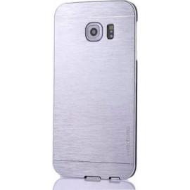 Motomo Back Cover Μεταλλική Ασημί (Galaxy S6 Edge)