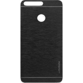 Huawei Honor 8 Aluminium Back Cover Θήκη Μαύρη  (motomo)