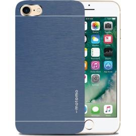 iPhone 8/7 - θήκη Αλουμινίου Μπλε Ανθρακί Motomo