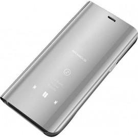 OEM Clear View Book Ασημί (Huawei Mate 20)