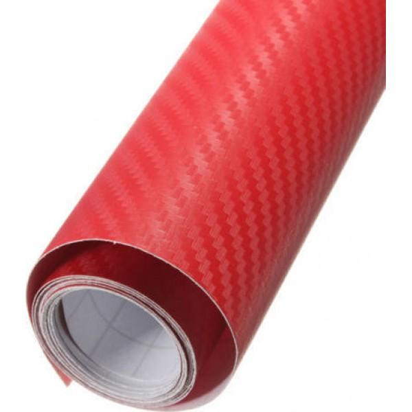 Διακοσμητική Αυτοκόλλητη Ταινία Carbon 250×300mm Red