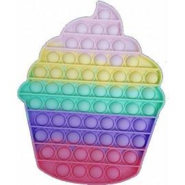 Pop it Fidget Toy XLarge Cupcake Πολύχρωμο