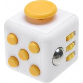 Anti Stress Fidget Cube 6 Sides Κίτρινο-Λευκό