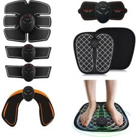 Σετ 6 σε 1 Μηχάνημα Εκγύμνασης - Παθητική Γυμναστική για Κοιλιακούς, Γλουτούς, Χέρια και Αυχένα & Μασάζ Ποδιών - Smart Fitness Series EMS