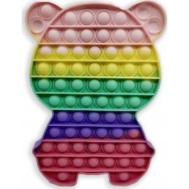 Pop it Bubble Fidget Sensory Toys For Kids Rainbow colours Γίγας Αρκουδάκι 23cm