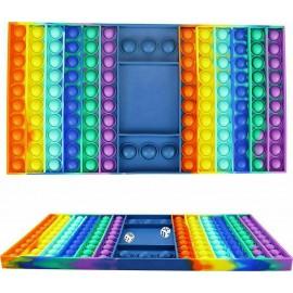 Push pop it Bubble Fidget Toy Stress Reliever ΤΑΜΠΛΟ ΜΕ ΖΑΡΙΑ 34CM X X22CM Rainbow colours Γίγας