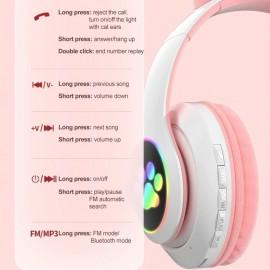 Ασύρματα ακουστικά - Cat Headphones - STN28 - 000008 - Μωβ
