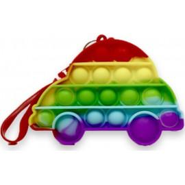 Pop it Bubble Fidget Sensory Toys For Kids Rainbow colours μπρελοκ Αυτοκίνητο