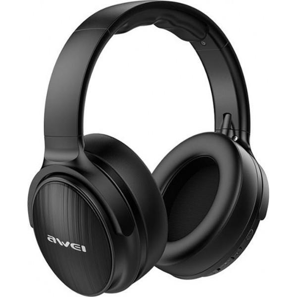 Πτυσσόμενα Ακουστικά Bluetooth Stereo με Αποσπώμενο Καλώδιο AUX Awei A780 Μαύρο