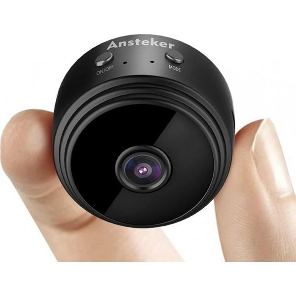 Mini Ασύρματη IP WiFi Κρυφή Κάμερα 720p HD με Μπαταρία, Μαγνητική Βάση, Νυχτερινή Λήψη, Ανιχνευτή Κίνησης, & Μικρόφωνο