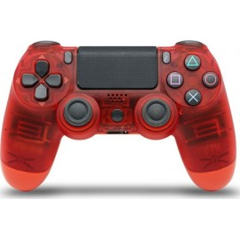 Doubleshock Wireless Controller Transparent Red PS4 oem