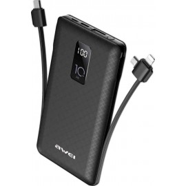 Awei Power Bank (Black) P8K 10000mAh