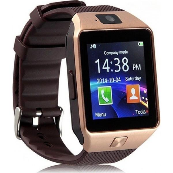 OEM Smartwatch DZ09-GR Ροζ Χρυσό