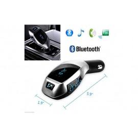 FM πομπό για το αυτοκίνητο, ασύρματο πομπό ραδιοφώνου αυτοκινήτου, κιτ ανοιχτής συνομιλίας αυτοκινήτου με διπλό USB MP3 player αυτοκινήτου