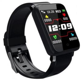 Fitness Tracker F1 Έξυπνο Ρολόι, Παλμοί της καρδιάς , Πίεση του αίματος, SpO2 για android, IOs -ΟΕΜ – Μαύρο