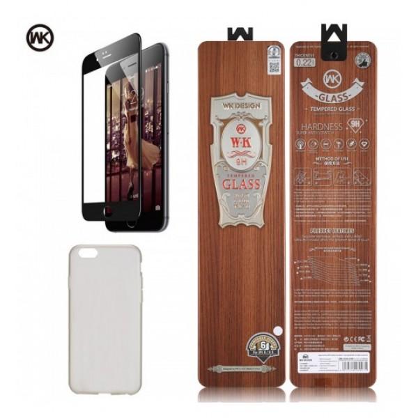 WK 2in1 Avant Garde 9H Tempered Glass με θήκη από σιλικόνη για IPhone X & 7/7 Plus