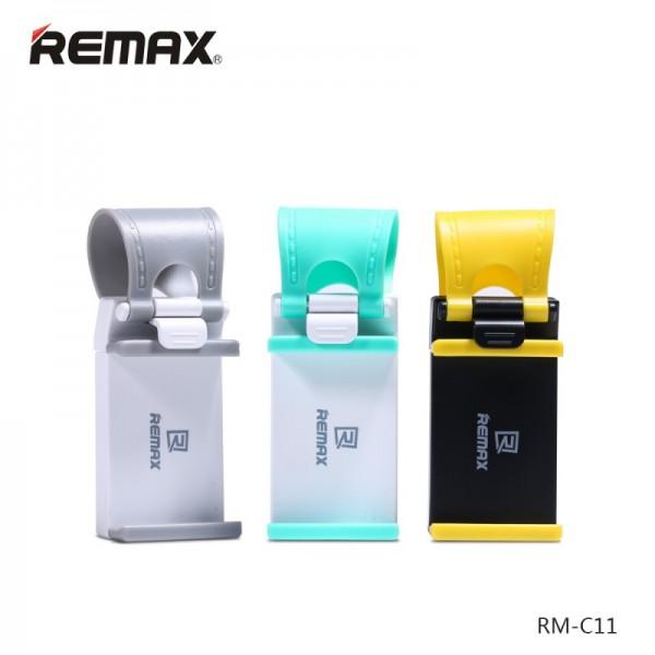 Remax RM-C11 Car Holder Steering Wheel Yellow: Bάση στήριξης για το τιμόνι του αυτοκινήτου