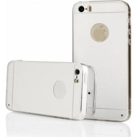 iPhone 5 - Σιλικόνη TPU καθρέπτης Ασημί OEM