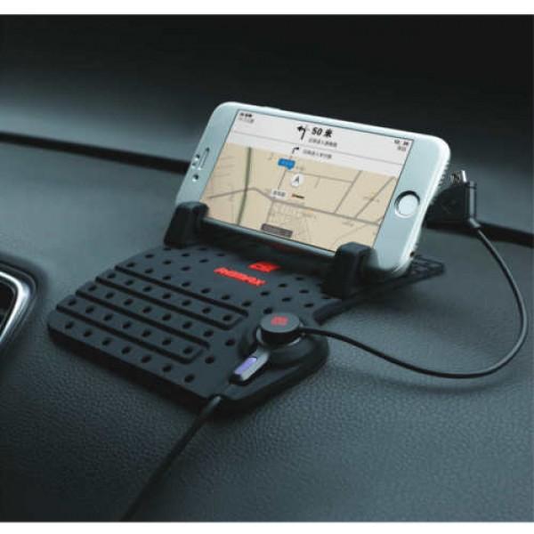 REMAX RSX15 Βάση αυτοκινήτου ταμπλό για smartphone με φορτιστή