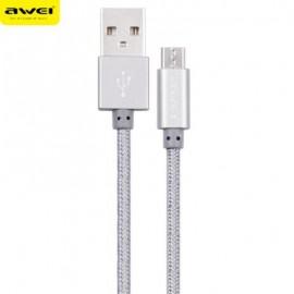 Awei CL - 10 Καλώδιο μεταφοράς δεδομένων με πλεγμένο καλώδιο τροφοδοσίας Mini USB Mini 0,3m - ΓΚΡΙ