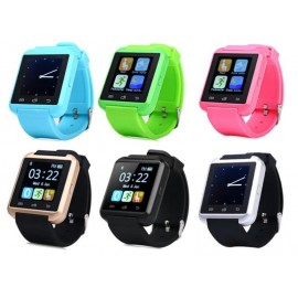 U8S SmartWatch Bluetooth 3.0 Outdoor Sports - Ασημί