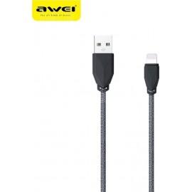 Awei cl-981 Καλώδιο Φόρτισης και Μεταφοράς Δεδομένων 5/5s/6/6plus/7s 1mm Μαύρο