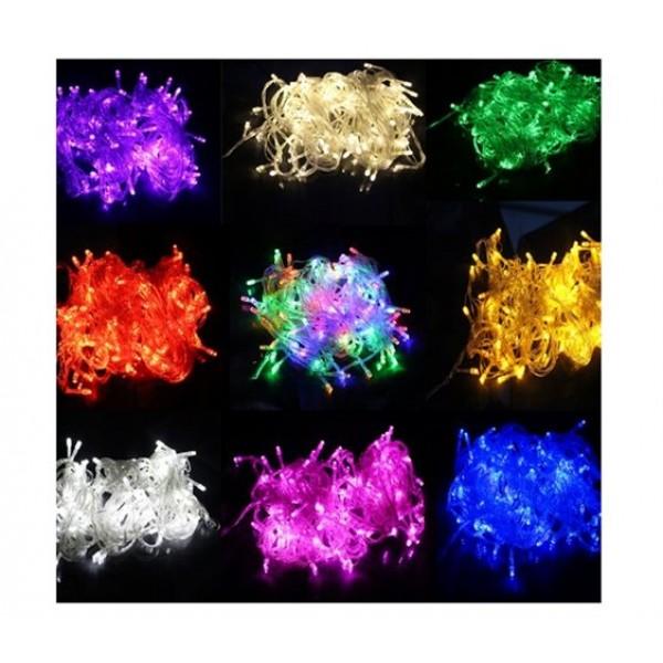 200 Λαμπάκια LED με 8 Προγράμματα Φωτισμού και Λευκό Καλώδιο