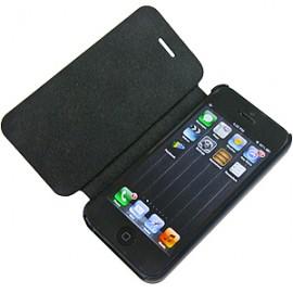 i-Phone 5 θήκη flip cover δερματίνη με μαγνητικό κλείσιμο Μαύρο