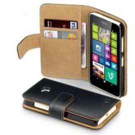 Nokia Lumia 435 θήκη πορτοφόλι & stand Μαύρο