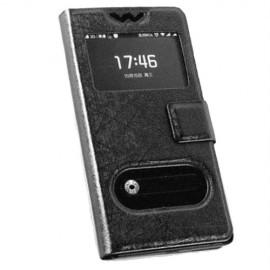 Nokia Lumia N640 θήκη call display & stand Μαύρο