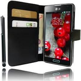 LG K4 θήκη πορτοφόλι & stand Μαύρο