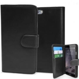 i-Phone 4/4s θήκη πορτοφόλι & stand Μαύρο