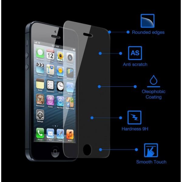 Tempered Glass 9H iPhone 6 plus  Επίστρωση Oleophobic για οθόνη χωρίς αποτυπώματα