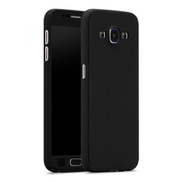 360 Full Body Θήκη και Μεμβράνη Προστασίας για το Samsung J7 2016 Μαύρο