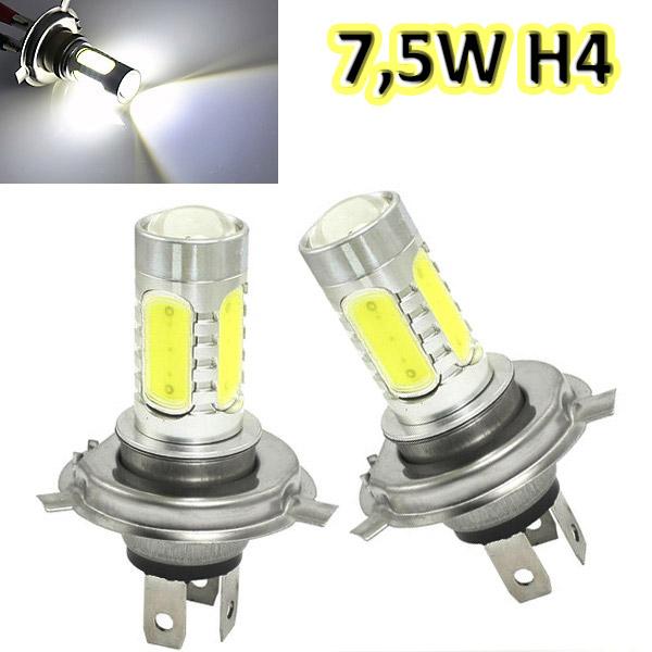 Λαμπτήρας Αυτοκινήτου LED H4 7,5W / 12V / 6.000K - Σετ 2 τεμαχίων