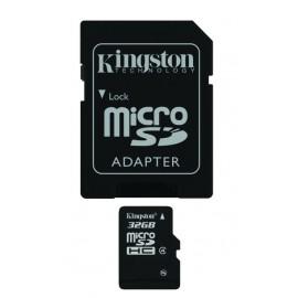 KINGSTON Memory Card MicroSD SDC4/32GB, Class 4, SD Adapter
