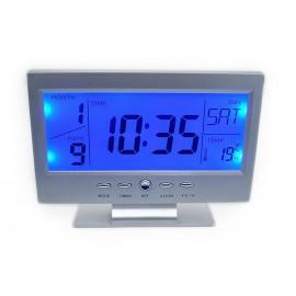 Επιτραπέζιο ψηφιακό ρολόι που ανιχνεύει ήχο&κίνηση