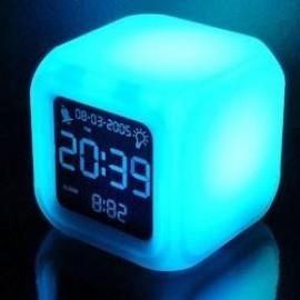 Ρολόι ξυπνητήρι κύβος φωτιζόμενο με θερμόμετρο