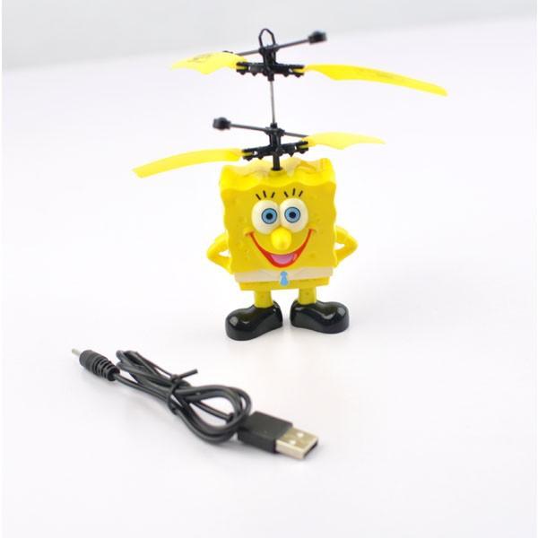 Mini Flyer UFO Heli Spongebob - Ιπτάμενο Ελικοπτεράκι με Αισθητήρα Υψόμετρου Helly Sauce2
