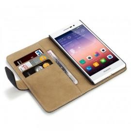 HUAWEI G525 θήκη πορτοφόλι & stand Μαύρο