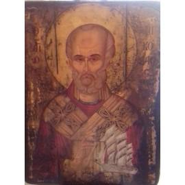 Παλαιωμένη Εικόνα Άγιος Νικόλαος 20 εκ x 26 εκ.