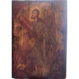 Παλαιωμένη Εικόνα Άγιος Ιωάννης ο Πρόδρομος 20 εκ x 26 εκ.