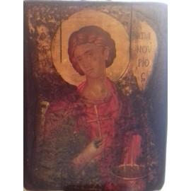 Παλαιωμένη Εικόνα Άγιος Φανούριος 20 εκ x 26 εκ.