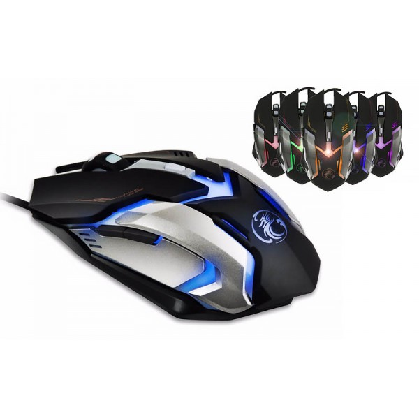 Ενσύρματο οπτικό ποντίκι με 6 κουμπιά - 1600dpi - X8